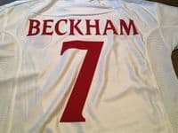 Classic Football Shirts | 1999 England Beckham Vintage Old Jerseys